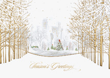 Cityscape Luster Holiday Cards